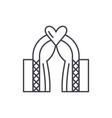 wedding line icon concept wedding linear vector image vector image
