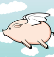 when pigs fly vector image vector image