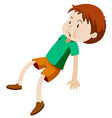 Little boy in green shirt vector image