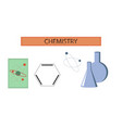 assembly flat icons chemistry lesson vector image