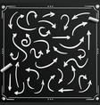chalkboard sketch arrows set sign arrow vector image