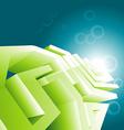 Green technology design wallpaper vector image