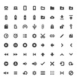solid monochrome software icons set vector image