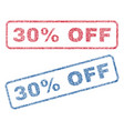 30 percent off textile stamps vector image
