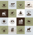 a large collection logos for farmers vector image vector image