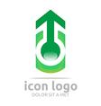 arrow green design symbol abstract vector image vector image