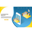 augmented reality landing page website vector image vector image