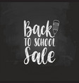 back to school sale handwritten vector image