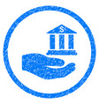bank service hand rounded grainy icon vector image vector image