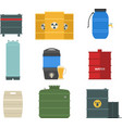 Barrel capacity tanks set vector image vector image