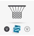 Basketball basket icon Sport symbol vector image vector image