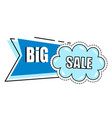 big sale blue sticker with cloud discount offer