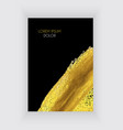 black and gold design templates for brochures an vector image vector image
