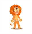 Boy Desguised As Lion vector image vector image