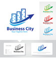 business city logo designs vector image vector image