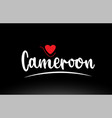 cameroon country text typography logo icon design vector image vector image