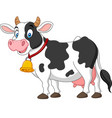 cartoon happy cow vector image vector image