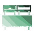 chafing dish icon vector image vector image