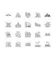 cityscape line icons signs set outline vector image vector image