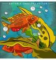 Colorful Aquarium Fishes vector image