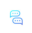 comments chat icon vector image