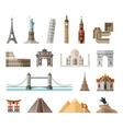 countries world logo design template vector image vector image