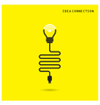 Creative light bulb with wifi connection icons vector image vector image