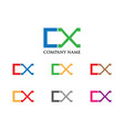 cx letter logo vector image vector image