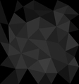 Dark grey background abstract polygon triangle vector image vector image