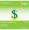 Dollar business background vector image