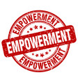 empowerment red grunge stamp vector image vector image