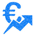 euro growth grunge icon vector image vector image