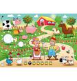 Funny farm family vector image vector image