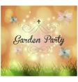 garden party invitation vector image vector image