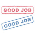 good job textile stamps vector image vector image