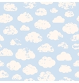 Grange clouds pattern vector image