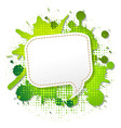 Green Grunge Poster With Abstract Speech Bubbles vector image vector image