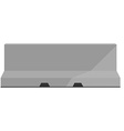 Grey road barrier vector image