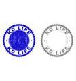 grunge ko lipe textured stamps vector image vector image