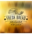 hand drawn with bread label vector image vector image