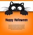 happy halloween and cartoon cat vector image vector image