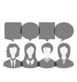 icons of business women with dialog speech bubbles vector image
