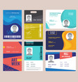 id card template identification badge for male vector image