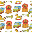 kid toys and children playthings collection for vector image vector image
