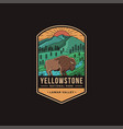 lamar valley yellowstone national park patch vector image vector image