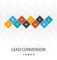lead conversion trendy ui template infographics vector image