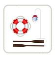 lifebuoy lantern paddle vector image