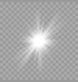 light rays shine radiance flash sun star effect vector image vector image