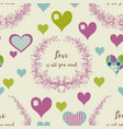 love seamless pattern decorative hearts vector image