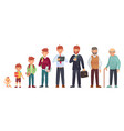 male different age newborn baby teenage boy vector image